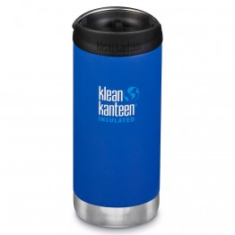 Klean Kanteen TKWide Insulated Bottle with Cafe Cap - 12oz Deep Surf