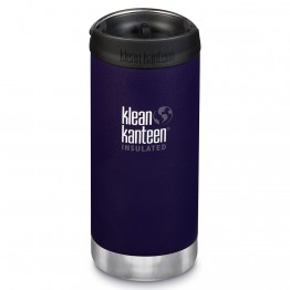 Klean Kanteen TKWide Insulated Bottle with Cafe Cap - 12oz Kalamata
