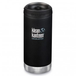 Klean Kanteen TKWide Insulated Bottle with Cafe Cap - 12oz Shale Black