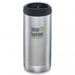 Klean Kanteen TKWide Insulated Bottle with Cafe Cap - 12oz Brushed Stainless