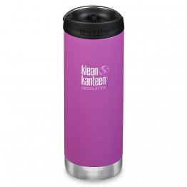 Klean Kanteen TKWide Insulated Bottle with Cafe Cap - 16oz Berry Bright