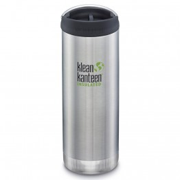 Klean Kanteen TKWide Insulated Bottle with Cafe Cap - 16oz Brushed Stainless