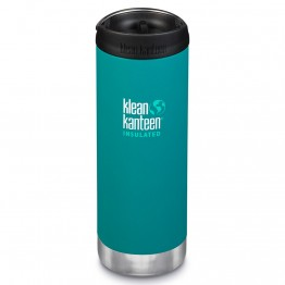 Klean Kanteen TKWide Insulated Bottle with Cafe Cap - 16oz Emerald Bay