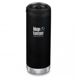 Klean Kanteen TKWide Insulated Bottle with Cafe Cap - 16oz Shale Black