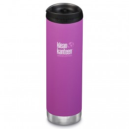 Klean Kanteen TKWide Insulated Bottle with Cafe Cap - 20oz Berry Bright