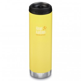 Klean Kanteen TKWide Insulated Bottle with Cafe Cap - 20oz Buttercup