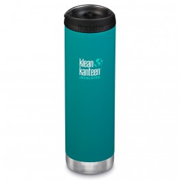 Klean Kanteen TKWide Insulated Bottle with Cafe Cap - 20oz Emerald Bay