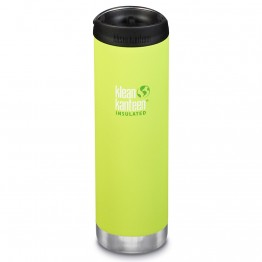 Klean Kanteen TKWide Insulated Bottle with Cafe Cap - 20oz Juicy Pear