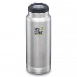Klean Kanteen TKWide Insulated Bottle with Loop Cap - 32oz Brushed Stainless