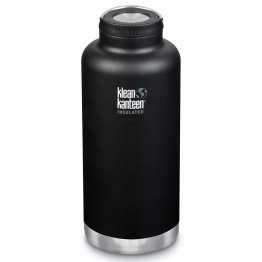 Klean Kanteen TKWide Insulated Bottle with Loop Cap - 64oz Shale Black