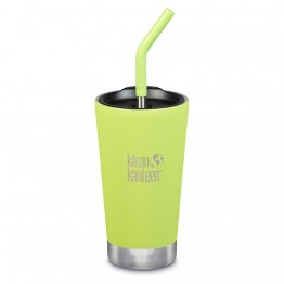 Klean Kanteen Insulated Tumbler with Smoothie Straw Lid - 473ml Juicy Pear