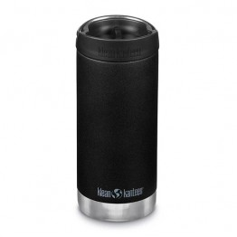 Klean Kanteen TKWide Insulated Bottle with Cafe Cap - 12oz Black