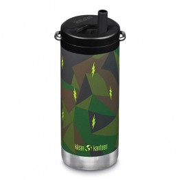 Klean Kanteen TKWide Insulated Bottle with Twist Cap - 12oz Electric Camo
