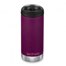 Klean Kanteen TKWide Insulated Bottle with Cafe Cap - 12oz Purple Potion