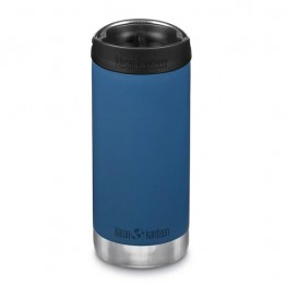Klean Kanteen TKWide Insulated Bottle with Cafe Cap - 12oz Real Teal