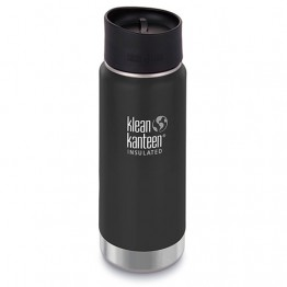 Klean Kanteen Wide Mouth Insulated Stainless Steel Travel Mug - 16oz (473ml) - Shale Black