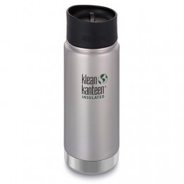 Klean Kanteen Wide Mouth Insulated Stainless Steel Travel Mug - 16oz (473ml) - Stainless Steel
