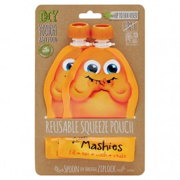 Little Mashies Reusable Squeeze Pouch 130ml - 2 pack Orange