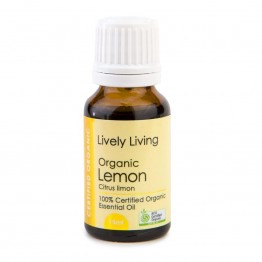Lively Living Organic Lemon Essential Oil 15ml