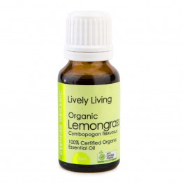 Lively Living Organic Lemongrass Essential Oil 15ml