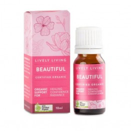 Lively Living Organic Essential Oil Blend - Beautiful 10ml