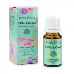 Lively Living Essential Oil Blend - Sniffles & Cough 10ml