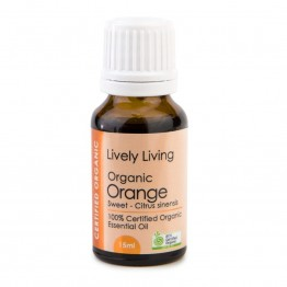 Lively Living Organic Orange Essential Oil 15ml