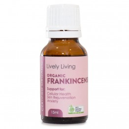 Lively Living Organic Frankincense Boswella Serrata Essential Oil 15ml