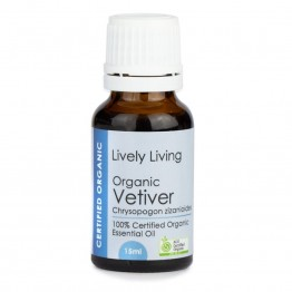 Lively Living Organic Vetiver Essential Oil 15ml
