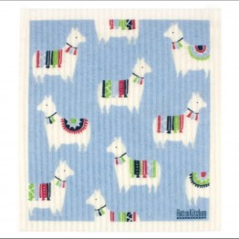 Retro Kitchen Swedish Dish Cloth - Llamas