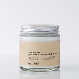 Love Beauty Foods Natural Tooth Powder 50g - Aloe Vera & Organic Lemon Myrtle