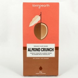 Loving Earth Raw Organic Chocolate - Almond Crunch 80g
