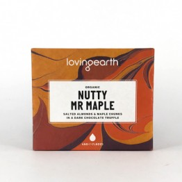 Loving Earth Pocket 45's Chocolate Bar - Nutty Mr Maple - 45g