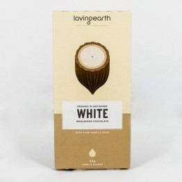 Loving Earth Raw Organic Chocolate - White 80g
