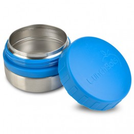 Lunchbots Round Stainless Steel Snack Jar - 115ml Blue