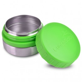 Lunchbots Round Stainless Steel Snack Jar - 115ml Green