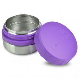 Lunchbots Round Stainless Steel Snack Jar - 115ml Purple