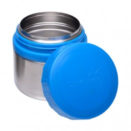 Lunchbots Round Stainless Steel Snack Jar - 230ml Blue
