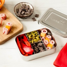Lunchbots Small Protein Packer Stainless Steel Bento Box - Silver