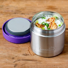 Lunchbots Thermal - Stainless Steel Insulated Food Jar 470ml - Purple
