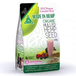 Made In Hemp Certified Organic Hulled Hemp Seeds - 250g