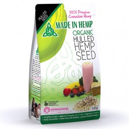 Made In Hemp Certified Organic Hulled Hemp Seeds - 500g