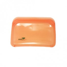 Green Essentials Reusable Silicone Food Pouch - Medium Orange