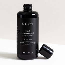 Mukti 2-in-1 Resurfacing Exfoliant 200ml