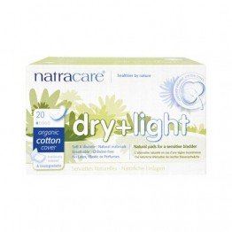Natracare Certified Organic Cotton Dry + Light Incontinence Pads - (20)