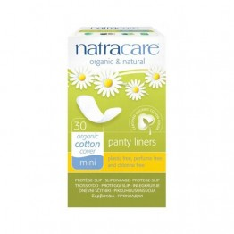 Natracare Certified Organic Cotton Panty Liners - Mini (30)