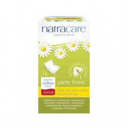 Natracare Certified Organic Cotton Panty Liners - Normal (18) individually wrapped