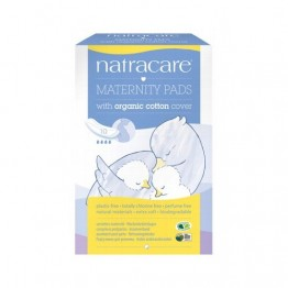 Natracare Certified Organic Cotton Maternity Pads - (10)