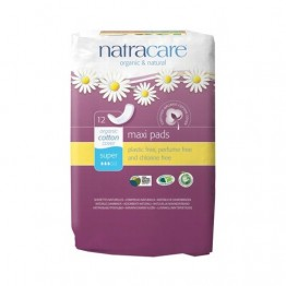 Natracare Certified Organic Cotton Maxi Pads - Super (12)
