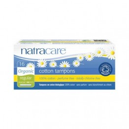 Natracare Certified Organic Cotton Tampons with Applicator - Regular (16)